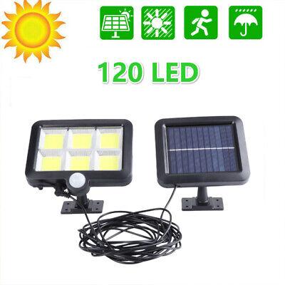 COB 120 LED Solar Luz Pared Sensor Movimiento Lámpara IP65 Exterior Con...