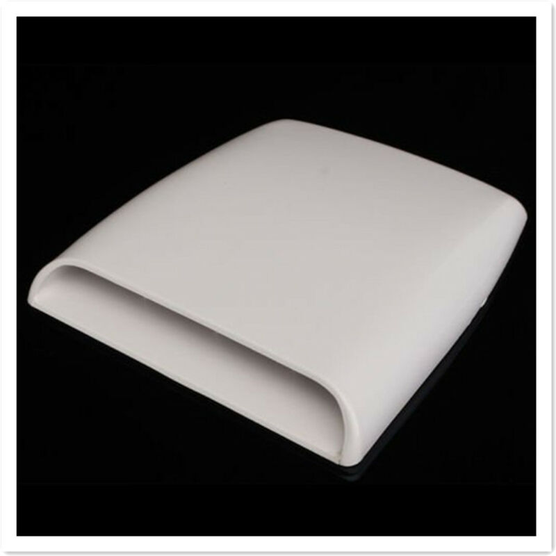 NEW White Car decorative Air Flow Intake Scoop Turbo Bonnet Vent Cover hood