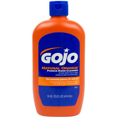 - GOJO Pumice Hand Cleaner Natural Orange 14 Ounce Bottle - #0957  1 EACH
