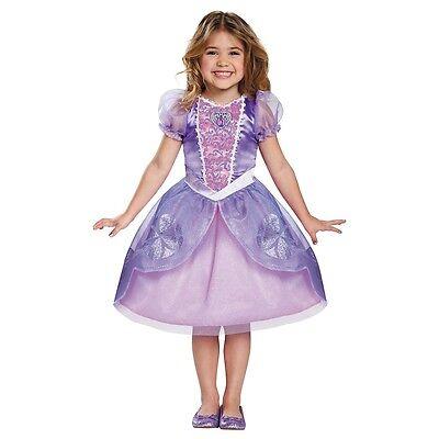 Girls Sofia The Next Chapter Costume Sophia First Purple Dress Disney Child Kids