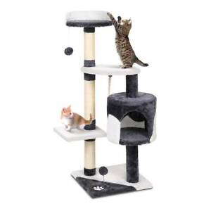 i.Pet Cat Tree 112cm Trees Scratching Post Scratcher Tower Condo