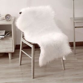 Faux Sheepskin Seat Cover Chair Floor Mat