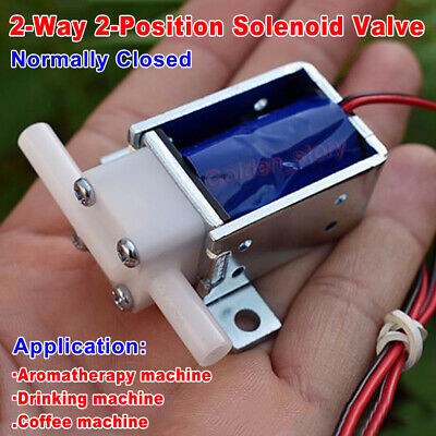 Dc 12v Mini Electric Solenoid Valve Micro Normally Closed Air Water Flow Valve