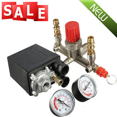 Air Compressor Pressure Control Switch Valve Manifold Regulatorgauges Relief Us