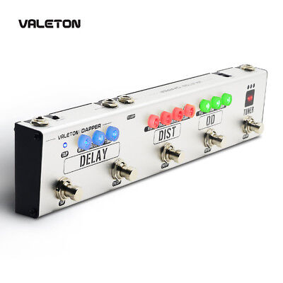 Valeton Dapper Multi Effects Pedal 4 in 1 Tuner,Overdrive,Distortion,Delay VES-1