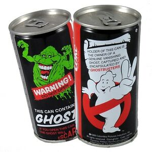 COCA-COLA-GHOSTBUSTERS-II-sealed-can-1989-GHOST-IN-A-CAN-COLLECTABLE-AS-NEW