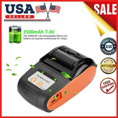 Portable Bluetooth Thermal Label Printer 58mm Wireless Bt Pos Receipt Handheld