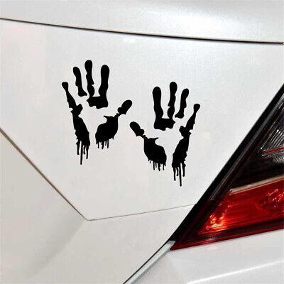 Halloween Zombie Hand Prints Scratch Cover Fun Bumper Window Vinyl Art Sticker ()