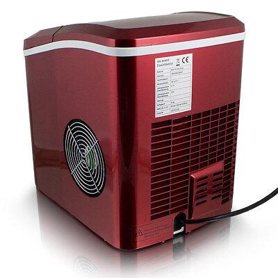 Eismaschine Eiswürfelmaschine Icemaker Ice Cube Maker Eiswürfelbereiter Rot