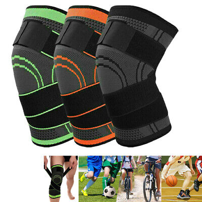 Knee Compression Sleeve - Knee Sleeve Compression Brace Patella Support Stabilizer Sports Gym Joint Pain E