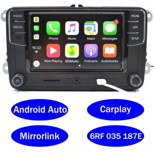 Autoradio RCD330,187E,Carplay,Android Auto,RVC,BT,AUX,USB for VW GOLF TOURAN CC