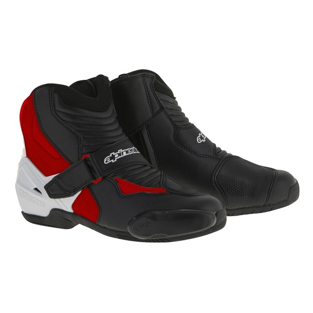 10% Off Alpinestars SMX-1R Black/White/Red Motorbike/Scooter Ankle Boots Shoes