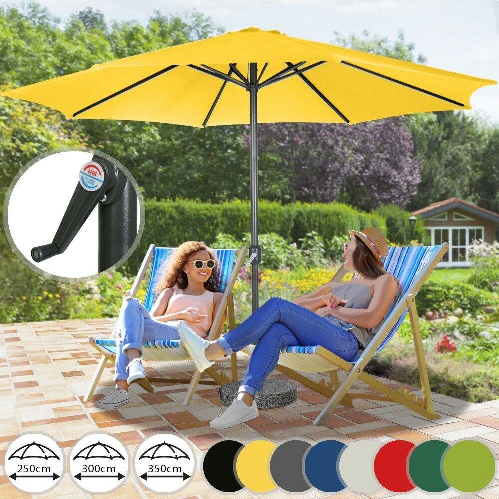 Sonnenschirm 3M Sonnenschutz Marktschirm Ampelschirm Gartenschirm taupe Schirm