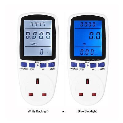 Plug In Digital Energy Meter Volt Freq Current Power Factor Watt Monitor I8n0