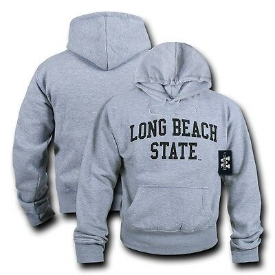 Game Day Hoody Sweatshirt - NCAAC CSLB - Cal Long Beach State Hoodie Sweatshirt Game Day Fleece Heather Grey