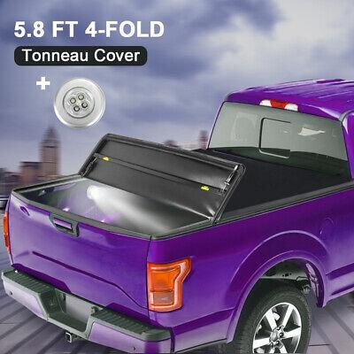 Tonneau Cover 5.8FT 4-FOLD Truck Bed For 07-2013 Chevy Silverado/GMC Sierra 1500