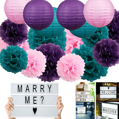 Wedding Decoration Led Light Letter Box USB DIY Birthday Party Tissue Pom Poms - Diy Tissue Pom Poms