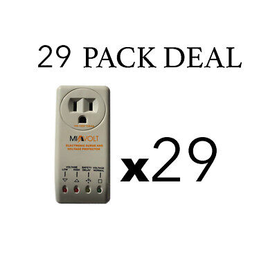 29 Pack Refrigerator 1800w Voltage Brownout Appliance Surge Protector