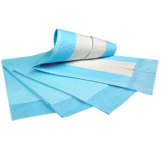 Set of 100 Pet Training Pads Blue