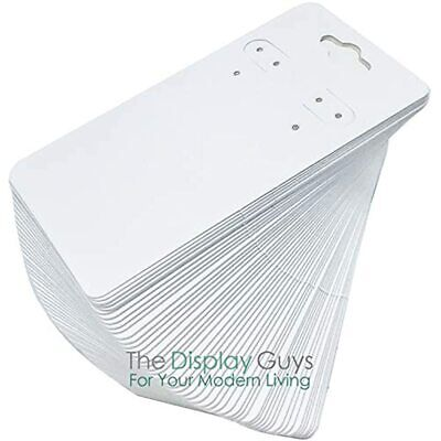 500-pack 2x4 Pre-punched Hanging Jewelry Earrings Display Cards White Kraft