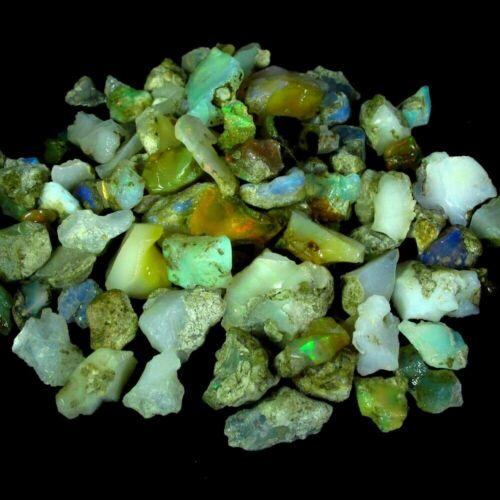 150.00Cts 100% Natural Ethiopian Opal Rough Wholesale MIxed Cabochon Gemstone