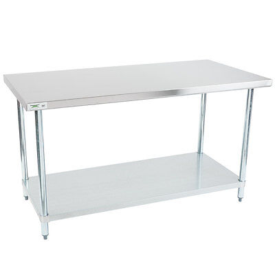 30 X 60 Nsf Regency Durable Stainless Steel Commercial Kitchen Work Prep Table
