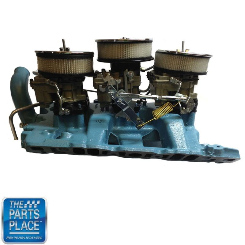 1964 Gto / Lemans / Full Size Pontiac Tri-power Set Up Complete Original