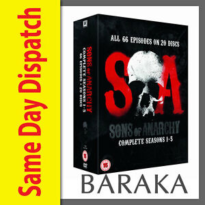 Sons of Anarchy The Complete Seasons Series 1 2 3 4 & 5 DVD Boxset 1 - 5 Box Set