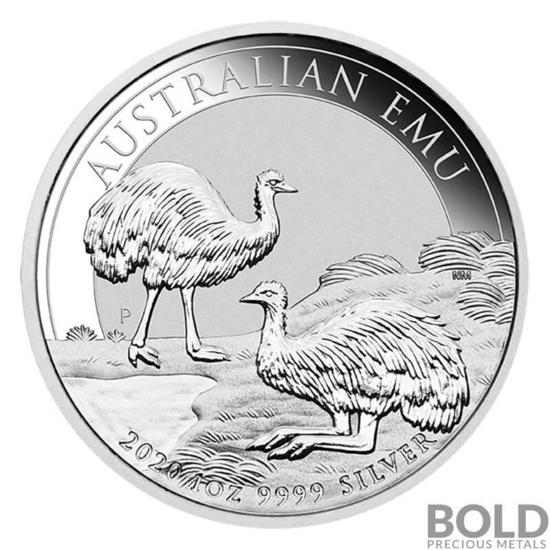 2020 Australia Perth Emu 1 oz Silver BU