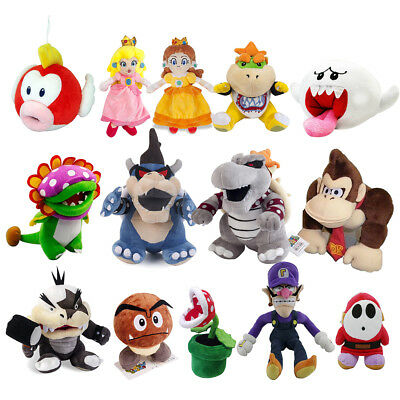 - Super Mario All Star Collection King Koopa & Princess Peach Plush Doll Toy Gift