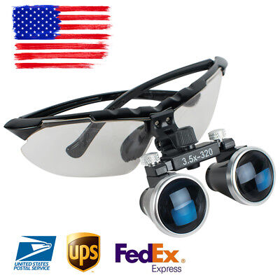 Dental 3.5x Medical Binocular Loupes 3.5x 320mm Magnifier Magnifying Glass Loupe