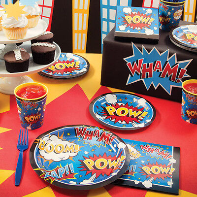 Superhero Slogans Birthday Party Supplies - Birthday Supplies