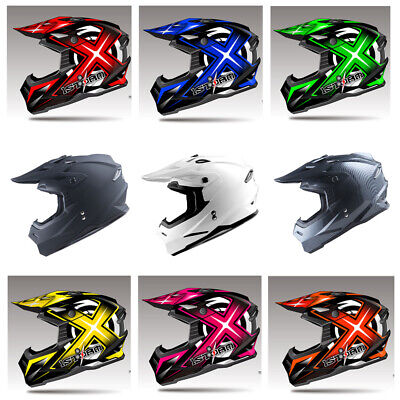 1Storm Adult Motocross Helmet MX BMX Bike Racing Black Blue Red Green Pink White