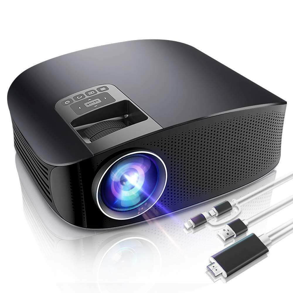 Video Projector, HD LED LCD Projector for Home Theater/Outdo