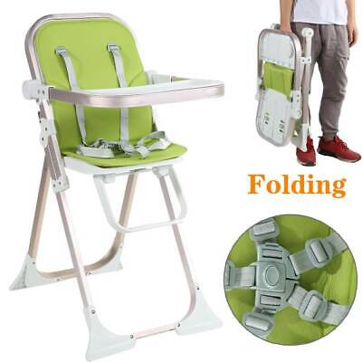 US Folding High Chair Baby Toddler Highchair Infant Feeding Seat +Removable Tray