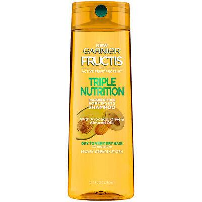 Garnier Hair Care Fructis Triple Nutrition Shampoo, 12.5 Flu