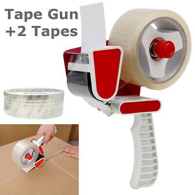 Packing Tape Gun Dispenser 2 Rolls Heavy Duty Machine Box Packaging Shipping