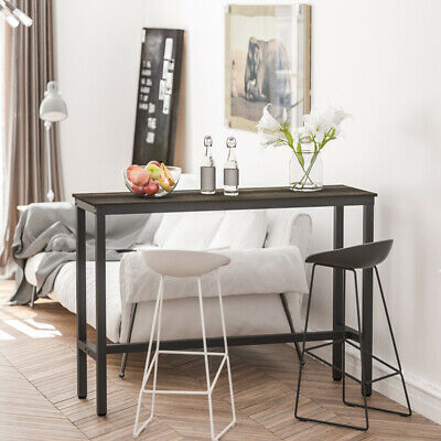 Wood Top Counter Height Bar Table Sturdy Pub Table Dining Kitchen Furniture Home