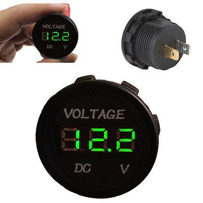Car Motor Green Led Digital Display Panel Voltmeter Volt Meter 12v