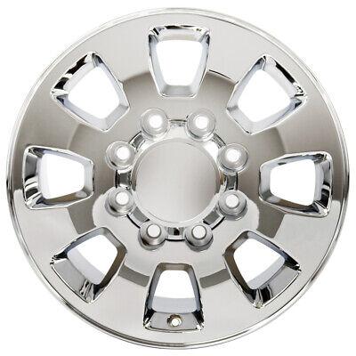 """18"""" Rim Fits 2011-2018 GMC Sierra 2500 HD8 Lug 180mm 8 Spokes 18x8 Chrome Wheel"""