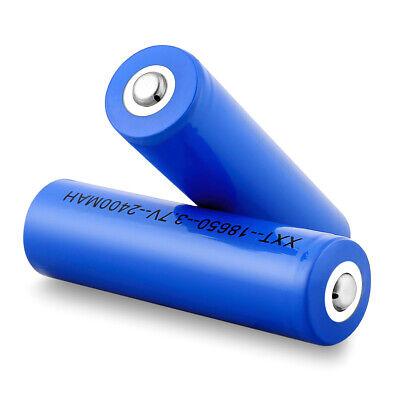 2stk 3.7V 2400mAh 18650 Rechargeable Lithium Batterie AKKU für Taschenlampen Lithium-batterien Taschenlampe