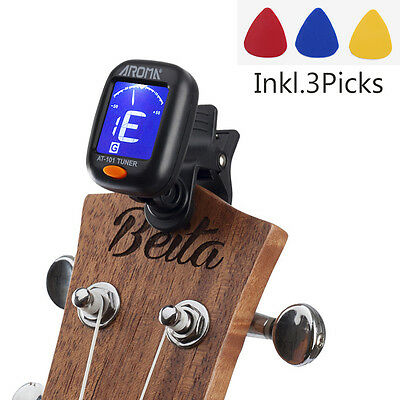 Digital Chromatic LCD Clip-On Electric Tuner for Bass, Guita