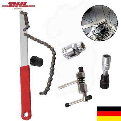 Fahrrad Werkzeug Kettenpeitsche Zahnkranzabzieher Kurbel-Abzieher Kit Set 5in 1