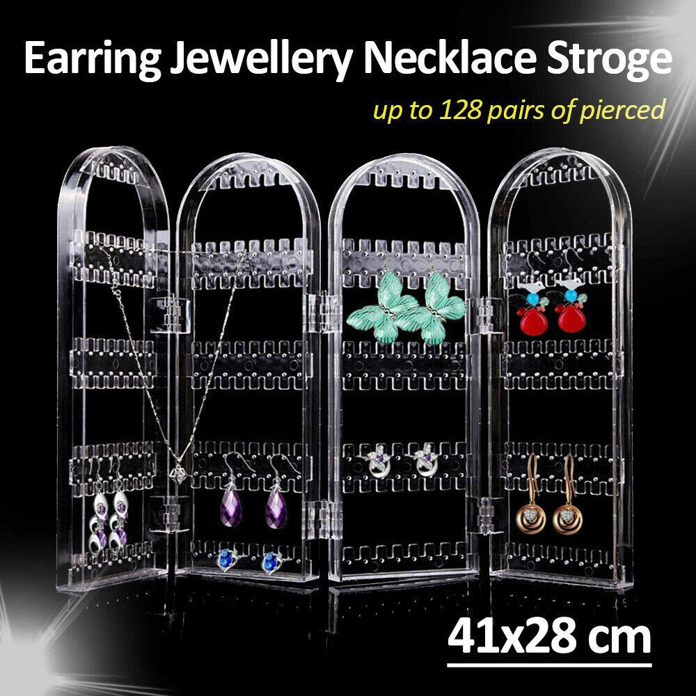 Jewellery - Earring Storage Jewellery Necklace Display Stand Acrylic Holder Rack Organizer