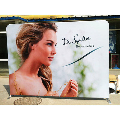 10ft Straight Back Wall Trade Show Display Pop Up Booth Stand With Graphic
