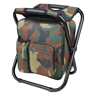 3 in1 Folding Fishing Chair Stool Backpack Hiking Camping Cooler Insulated - Backpack Fishing Chair