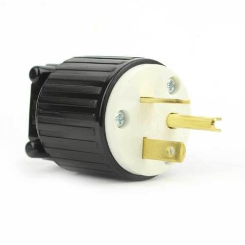 NEMA 6-20P Straight Electrical Plug 3 Wire, 20 Amps, 220V 230V 250V YGA022