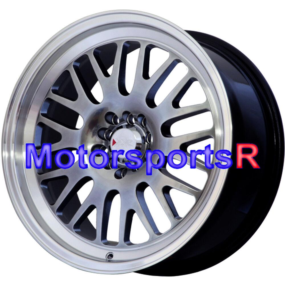 XXR 531 Wheels 18x8.5 +35 Chromium Black Rims 5x114.3 08