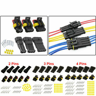 15 Kits 234 Pin Way Car Electrical Wire Connector Plug 16 Awg Super Seal Set