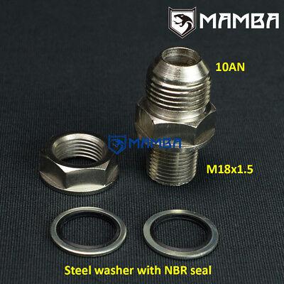 DIY Turbo Oil Pan Sump Return Drain Adapter Bung Fitting 10AN to M18x1.5 no Weld